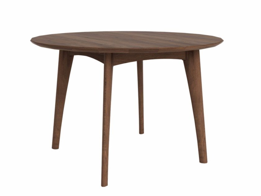 Round walnut table WALNUT OSSO | Round table by Ethnicraft