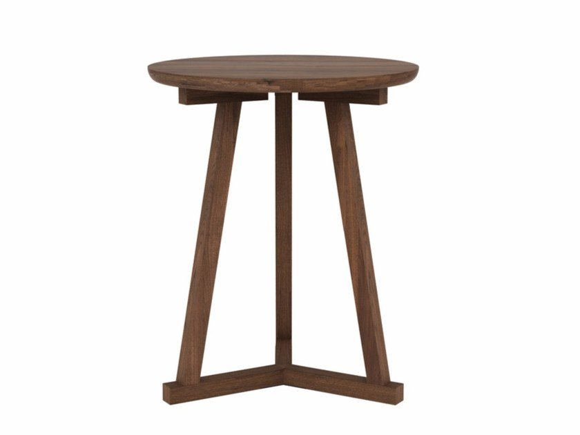 Round walnut coffee table WALNUT TRIPOD | Coffee table - Ethnicraft