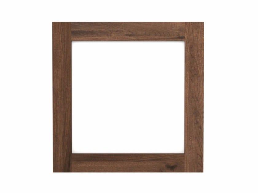 Square framed walnut mirror WALNUT UTILITILES | Mirror - Ethnicraft