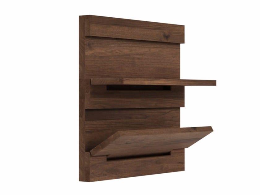 Folding walnut wall shelf WALNUT UTILITILES | Wall shelf - Ethnicraft