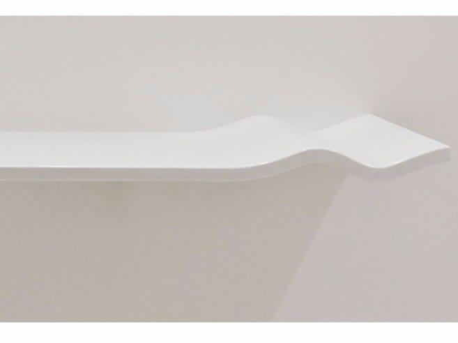 Single ceramic washbasin countertop WASHWAVE | Ceramic washbasin countertop - GSG Ceramic Design
