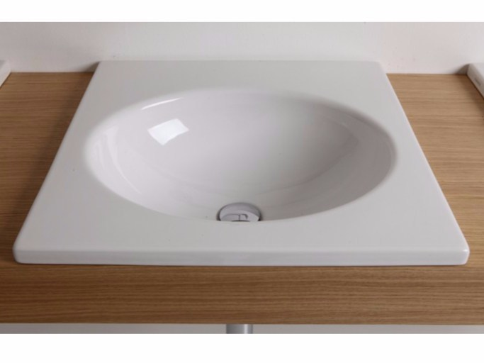 Inset ceramic washbasin WASHWAVE | Inset washbasin - GSG Ceramic Design