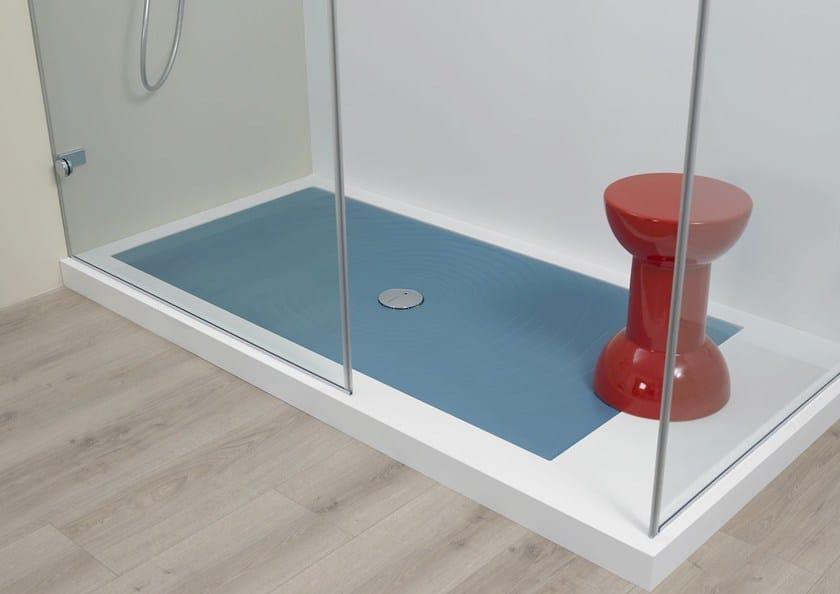 Piatto doccia rettangolare in ceramica in stile moderno WATER DROP ...