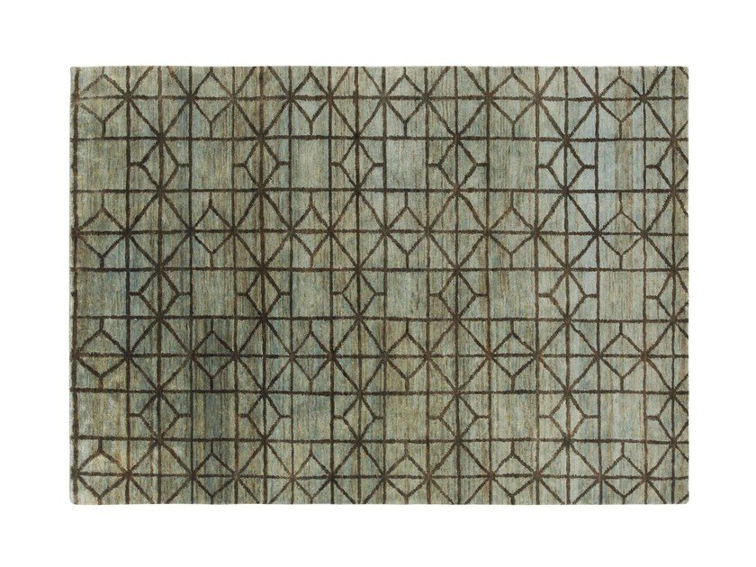 Jute rug with geometric shapes WATERKEYN by GAN