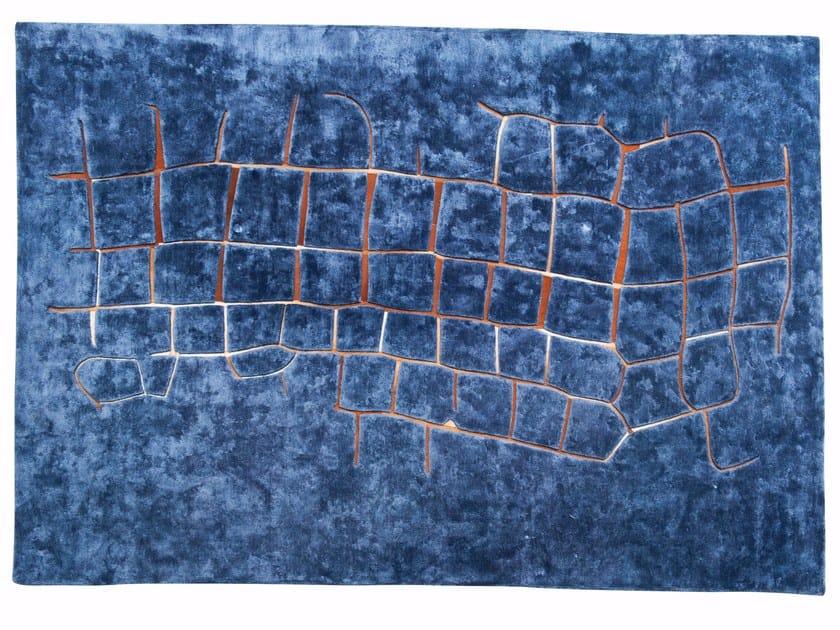 Rectangular viscose rug WAVE by ROCHE BOBOIS