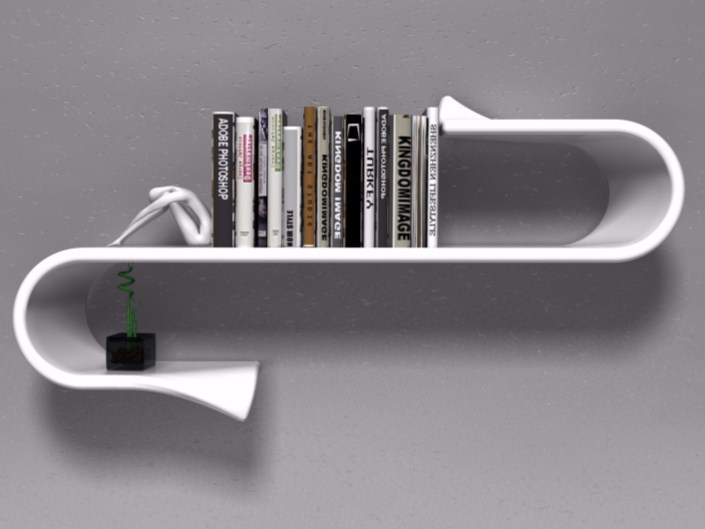 Adamantx® wall shelf WAVESHELF - ZAD ITALY