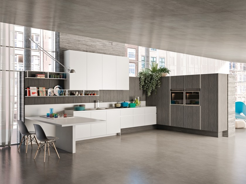 Linear wooden fitted kitchen WAY | Linear kitchen by Snaidero