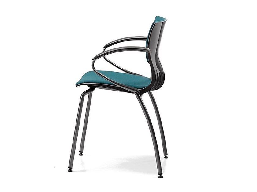 Cantilever upholstered fabric chair with armrests WEBBY 339 S by TALIN
