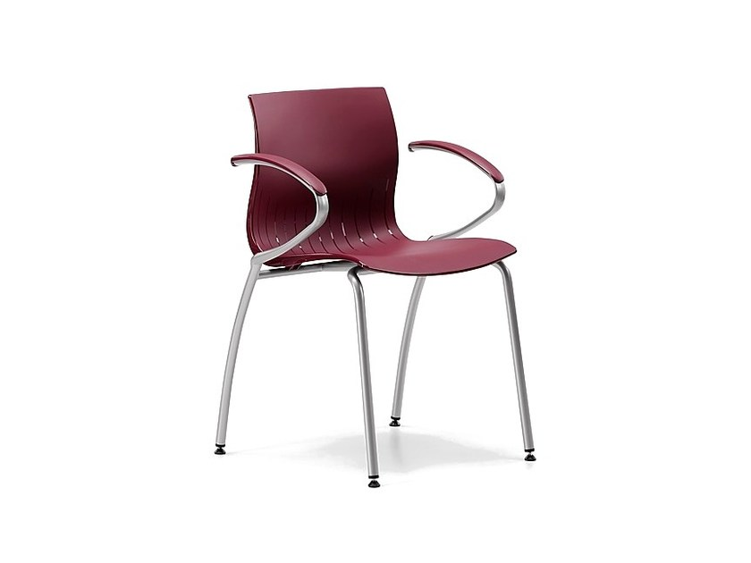Stackable plastic chair with armrests WEBBY 339 - TALIN