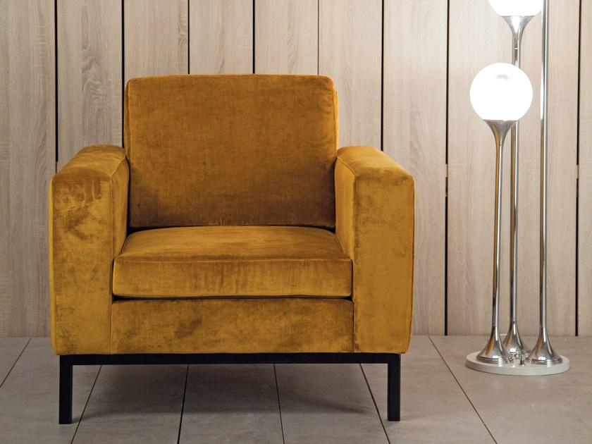 Fabric armchair with armrests WEDDO | Armchair by Kann Design