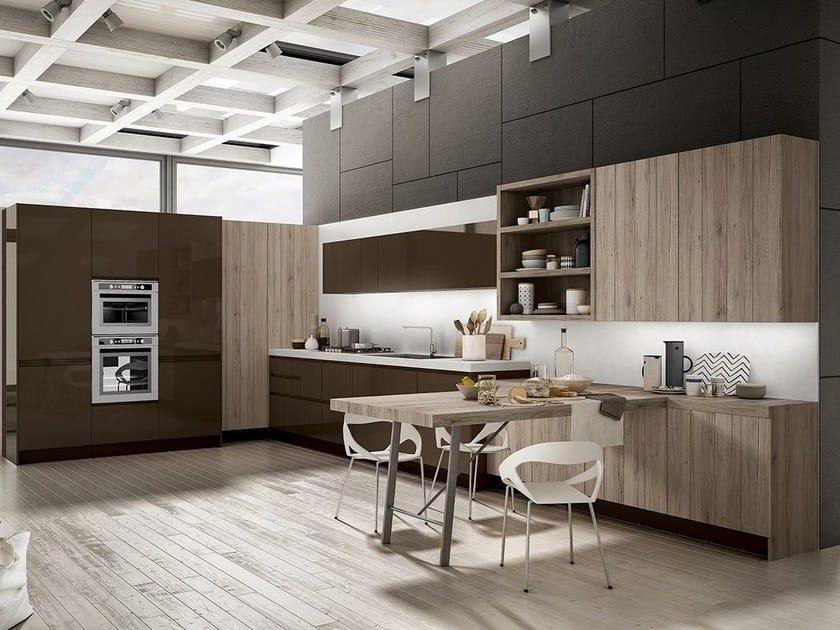 cucina componibile con maniglie integrate wega arredo 3
