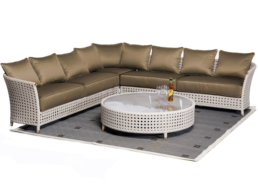 Sectional garden sofa WEZEN | Sectional sofa - Samuele Mazza Outdoor Collection by DFN