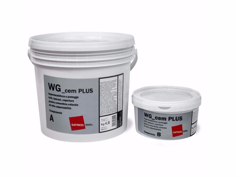 Cement-based waterproofing coating WG_cem PLUS by Gattocel Italia