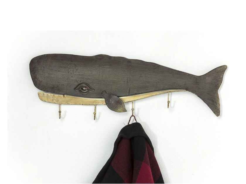 Wall-mounted powder coated steel coat rack WHALE - KARE-DESIGN