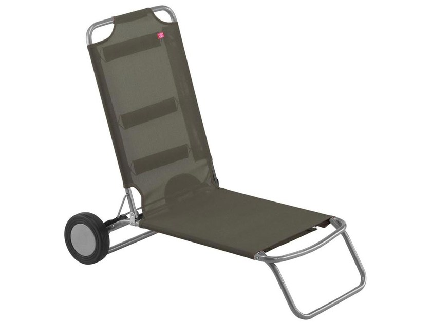 Recliner garden daybed with Casters WHEELY by FIAM