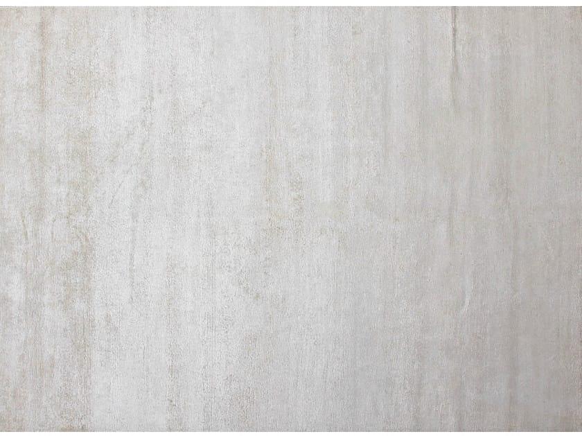 Solid-color handmade custom rug WHISPER SNOW WHITE - EDITION BOUGAINVILLE
