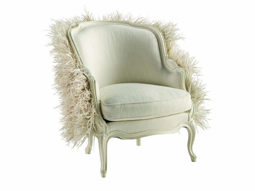 Louis XV bergere armchair with armrests WHITE SWAN - ROCHE BOBOIS