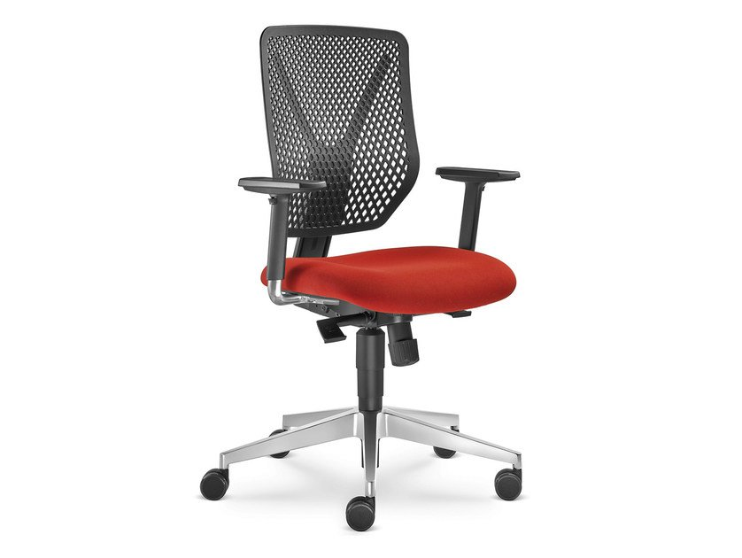 Height-adjustable task chair with 5-Spoke base with casters WHY 320-SY - LD Seating