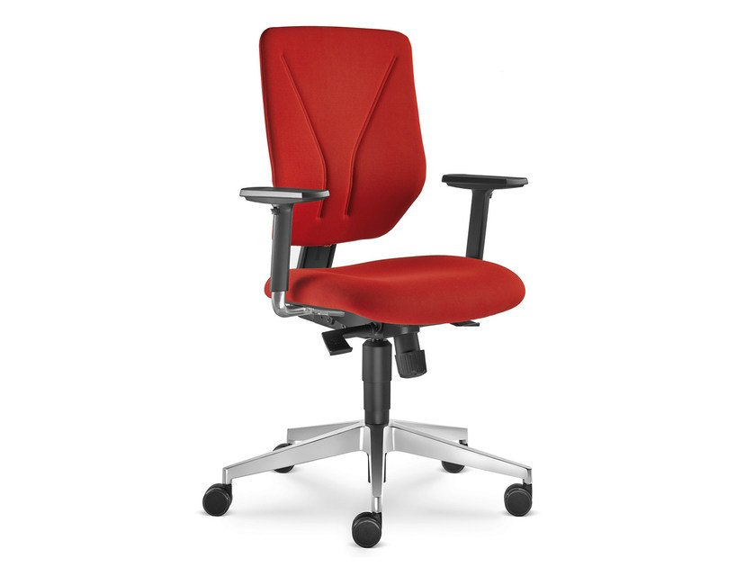 Height-adjustable fabric task chair with 5-Spoke base with armrests WHY 330-SY - LD Seating