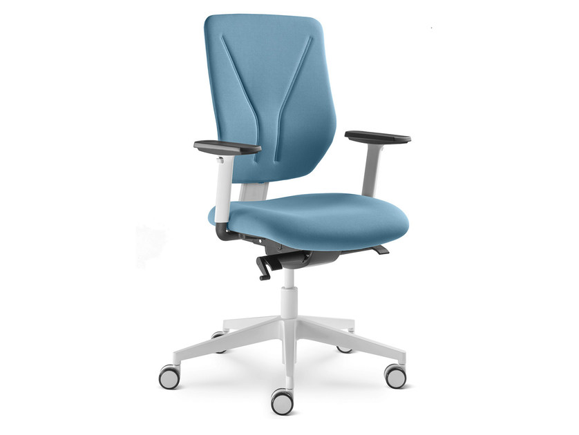 Height-adjustable task chair with 5-Spoke base with casters WHY 331-SYS - LD Seating