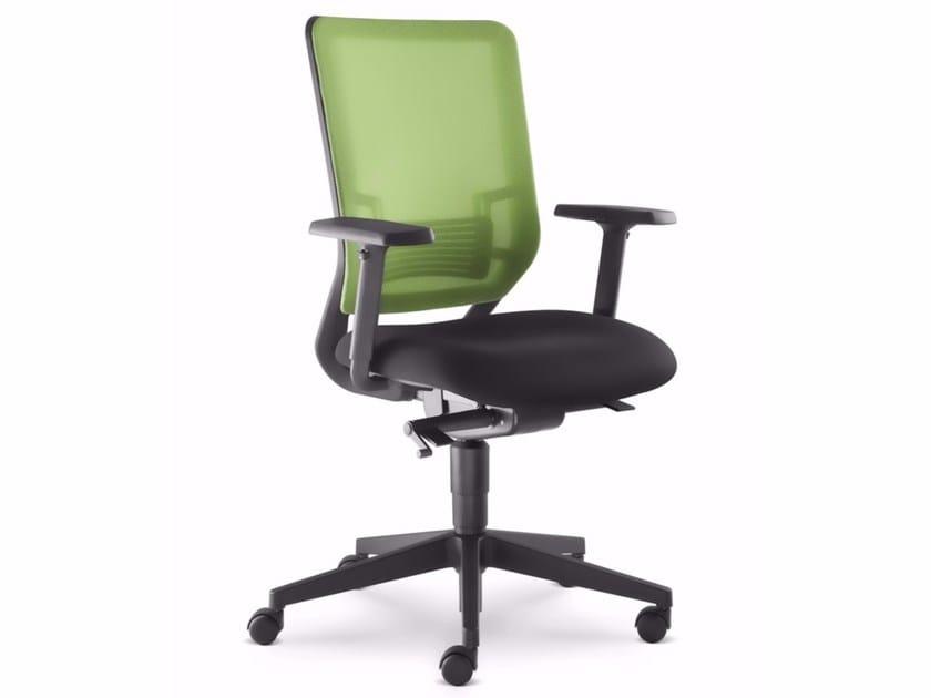 Sedia ufficio operativa ergonomica con braccioli con ruote WHY 350-SYS by LD Seating design ...