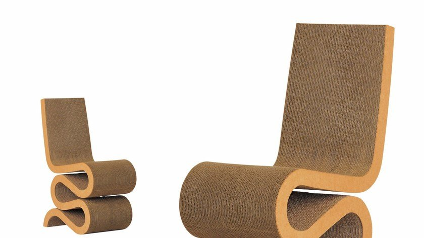 sedia in cartone wiggle side chair vitra. Black Bedroom Furniture Sets. Home Design Ideas