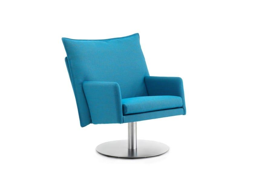 Swivel fabric armchair WIGWAM | Swivel armchair by Stouby