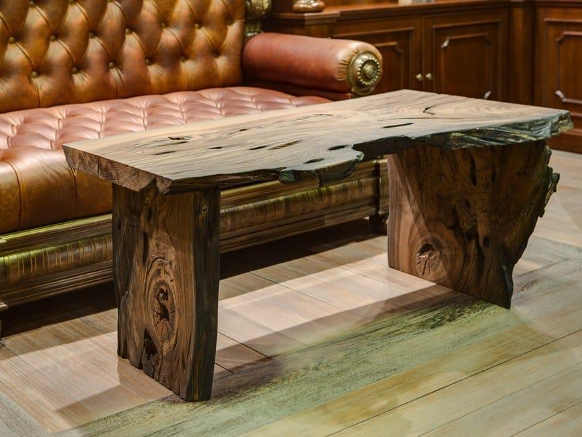 Rectangular bog oak coffee table WILD by EDWOOD