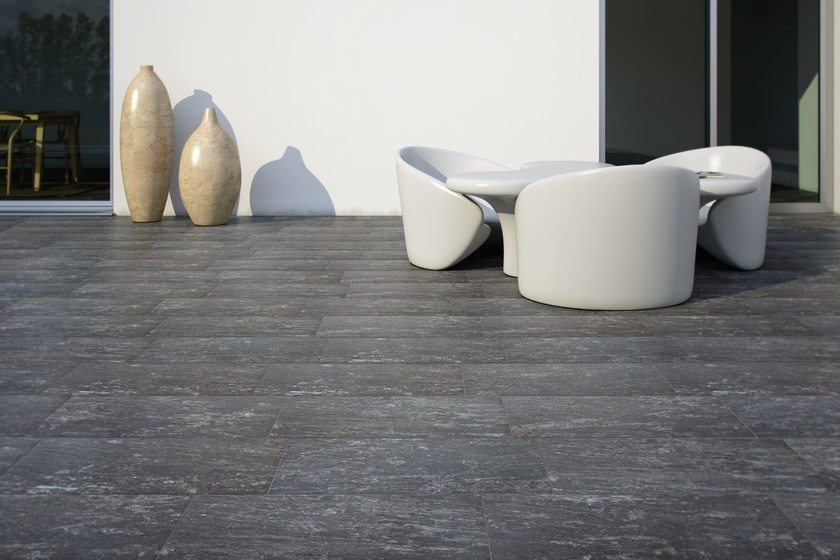 Pavimento per esterni in gres porcellanato effetto pietra wild rock recer - Gres porcellanato effetto pietra per esterni ...