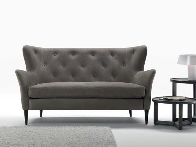 Tufted 2 seater fabric sofa WILSON | 2 seater sofa - Marac