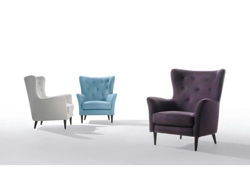 Fabric armchair with armrests WILSON   Fabric armchair - Marac