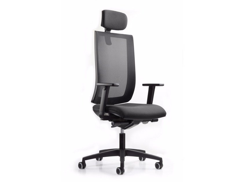 Height-adjustable executive chair with 5-spoke base with headrest WIND 119 - TALIN