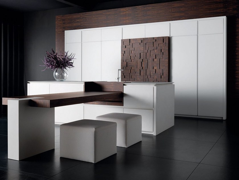 Lacquered kitchen with island WIND ETA BLANC - TONCELLI CUCINE