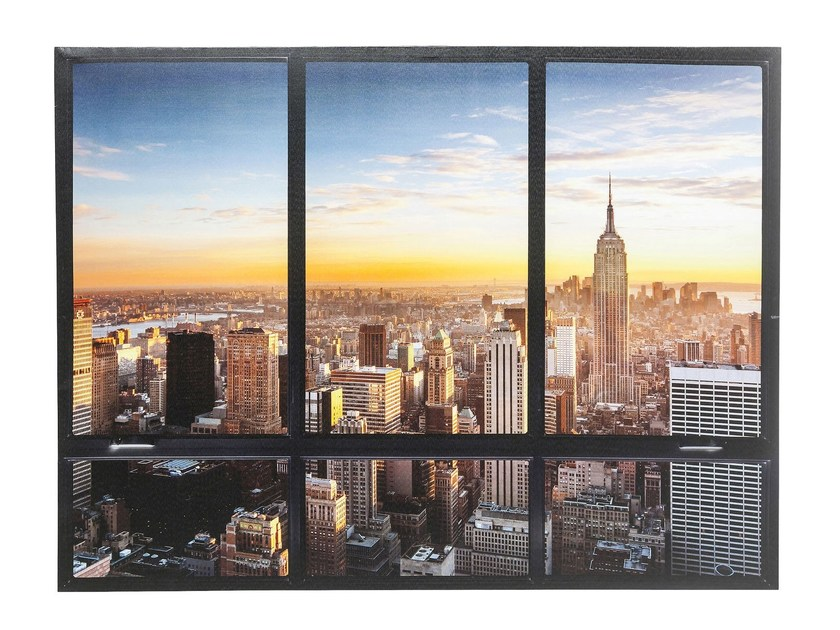 Polyester Canvas print WINDOW NY SKYLINE by KARE-DESIGN