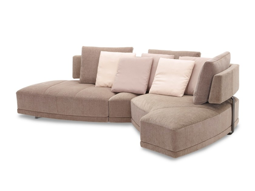 Convertible fabric sofa WING - DIVANBASE - Jori