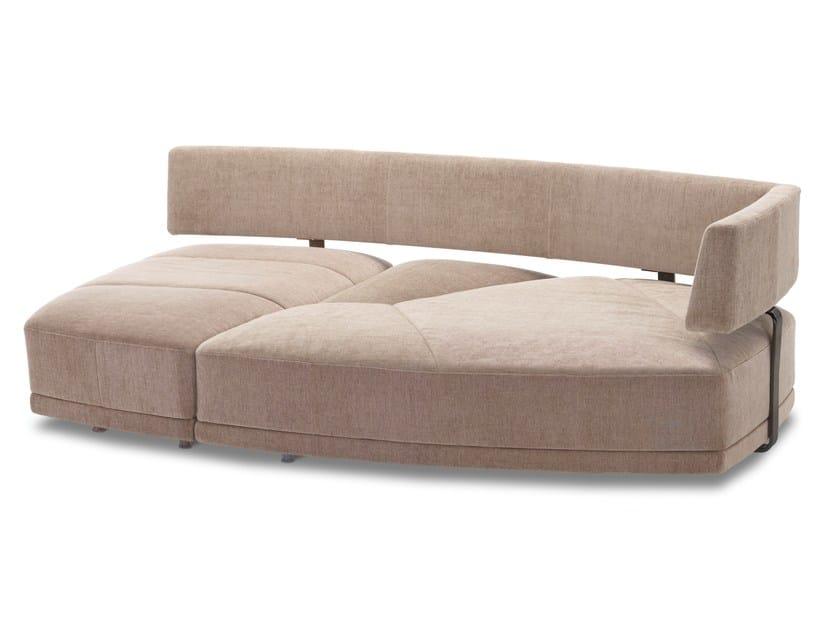 Convertible fabric sofa WING - DIVANBASE - Jori