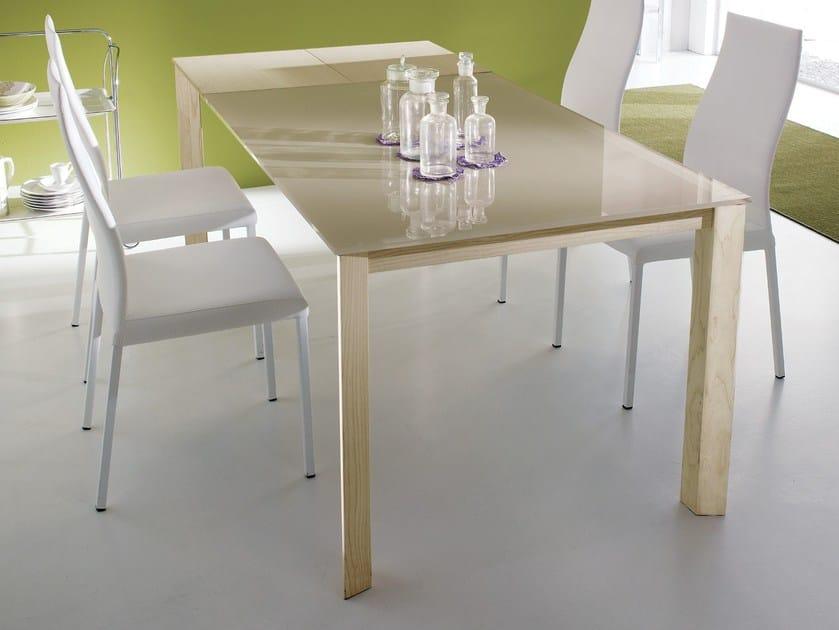 tavolo allungabile da pranzo in legno massello wing legno - ozzio ... - Consolle Byblos Tavolo Allungabile Legno Massello