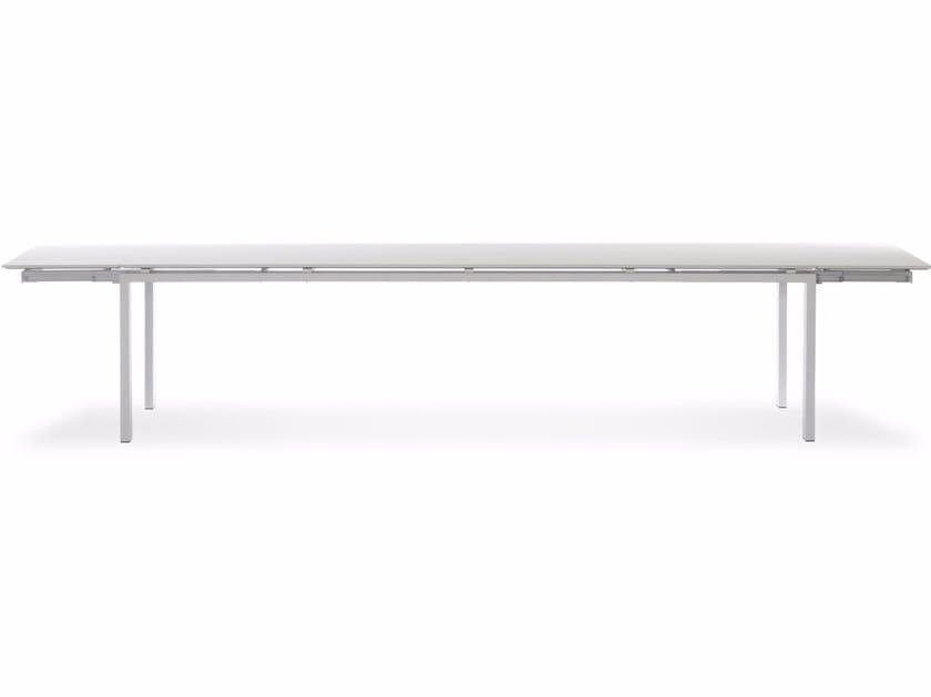 Extending rectangular Xeramica table WINGS XL - Joli