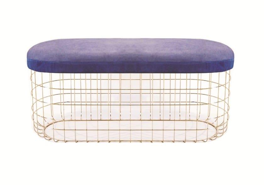 Powder coated steel bench WIRE | Bench - Dare Studio