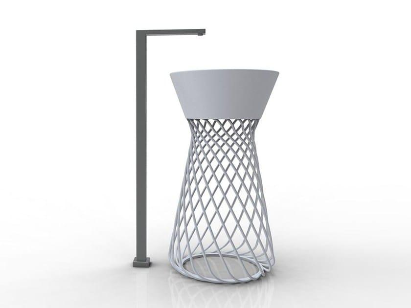 Round ceramic washbasin WIRE | Freestanding washbasin - Hidra Ceramica