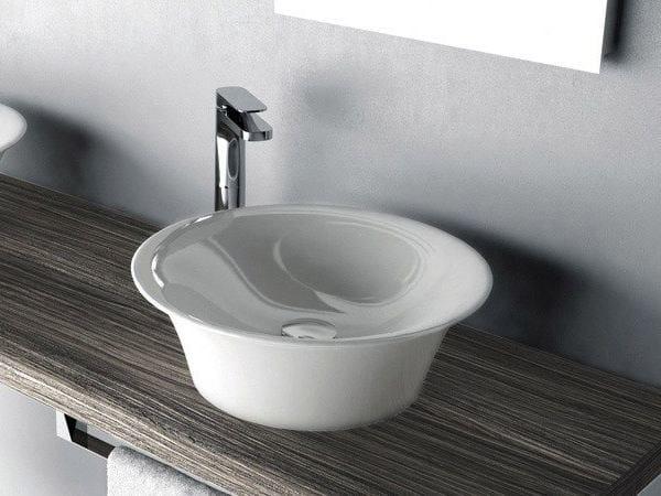 Round ceramic washbasin WIRE | Countertop washbasin - Hidra Ceramica