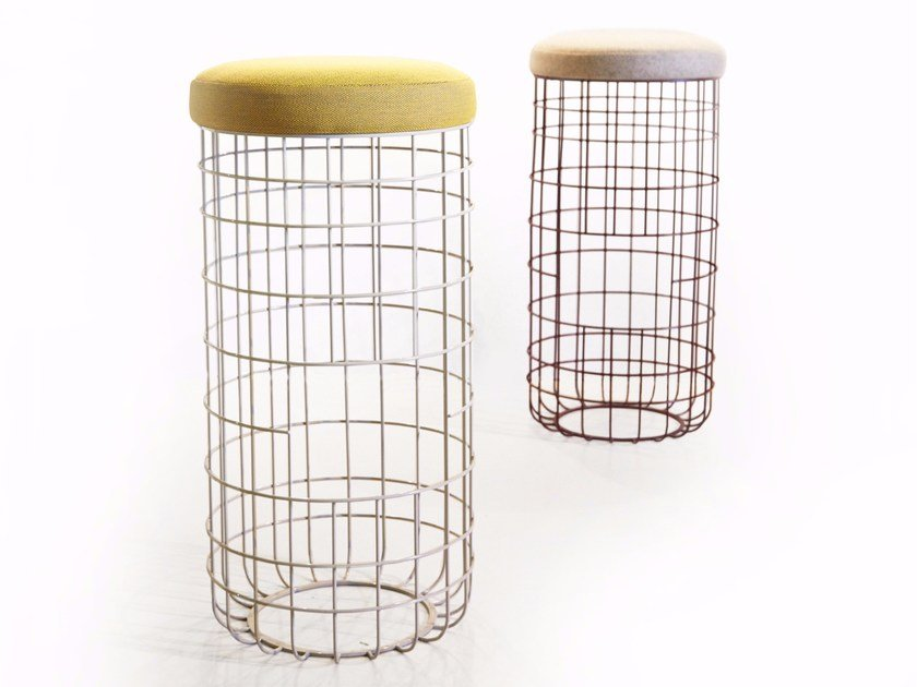 High powder coated steel stool WIRE | High stool - Dare Studio