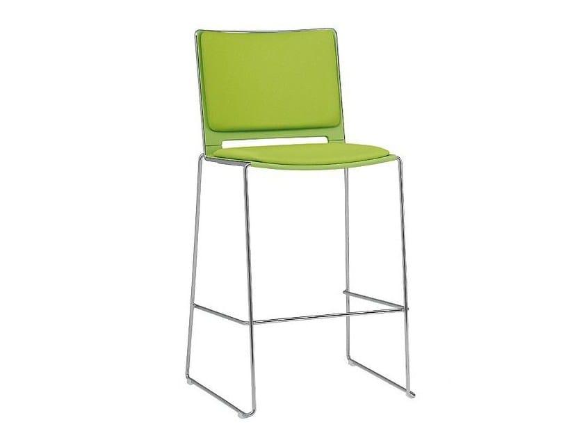 Sled base counter stool WIRY | Counter stool - SMV Sitz- und Objektmöbel