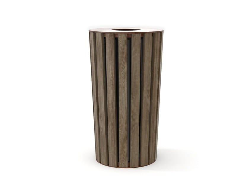 Steel and wood waste bin WOOD | Waste bin - LAB23