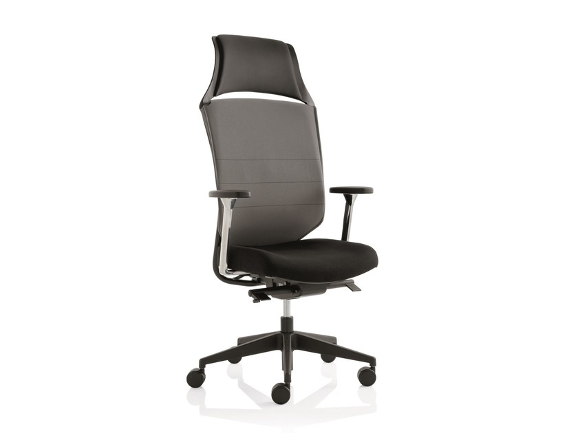 Executive chair with 5-spoke base with armrests WORK | Executive chair - Emmegi