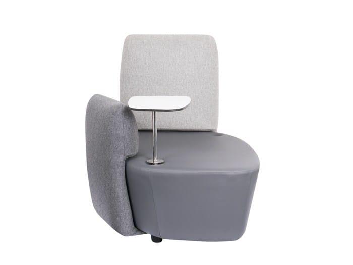 Modular fabric armchair WORKPAD - SMV Sitz- und Objektmöbel
