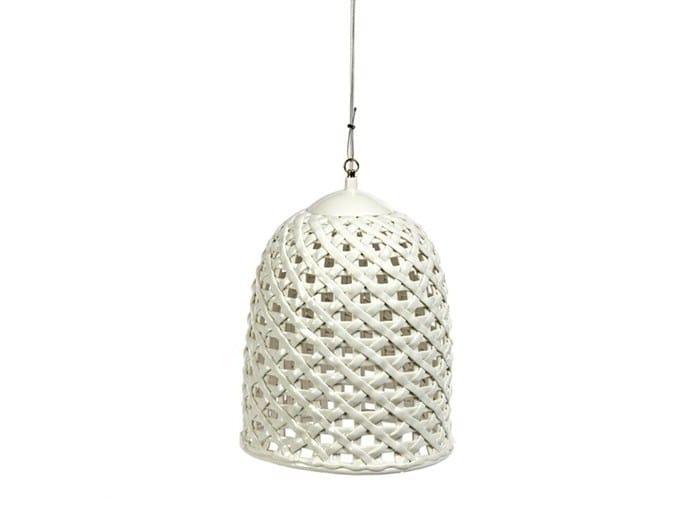 Porcelain pendant lamp WOVEN - Pols Potten
