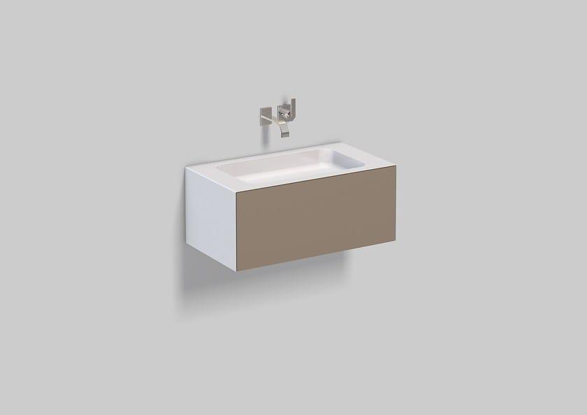Washplace from glazed steel WP.Folio2 - ALAPE