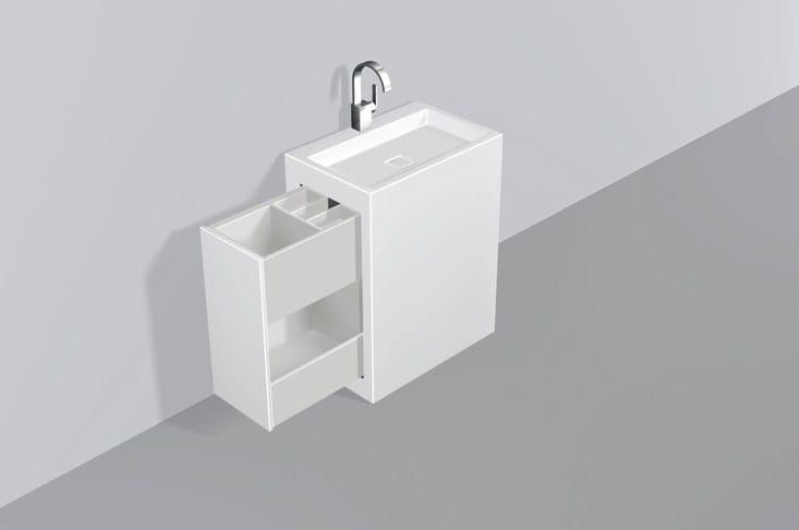 Washplace from glazed steel WP.INS1 - ALAPE