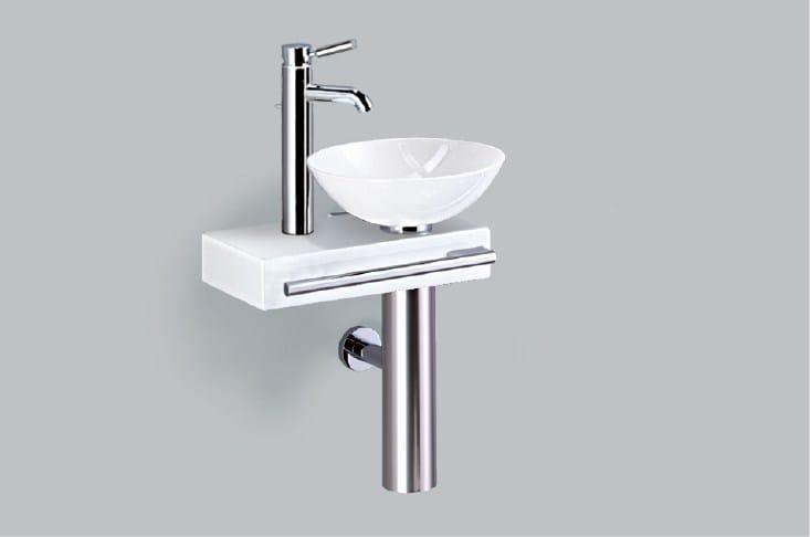 Washplace from glazed steel WP.PI2 - ALAPE
